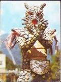 仮面ライダーカード 29番 鋼鉄怪人アルマジロング 裏25局 旧ゴシック版