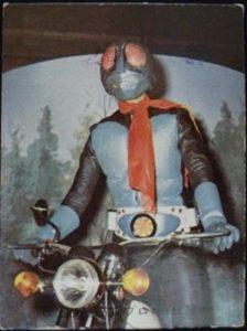 仮面ライダーカード 48番 仮面ライダーとサイクロン号 裏25局 旧ゴシック版