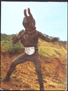 仮面ライダーカード 30番 蟻怪人アリキメデス 裏25局 旧ゴシック版