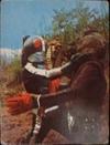 仮面ライダーカード 51番 レッツゴー ライダーキック 裏25局 旧ゴシック版